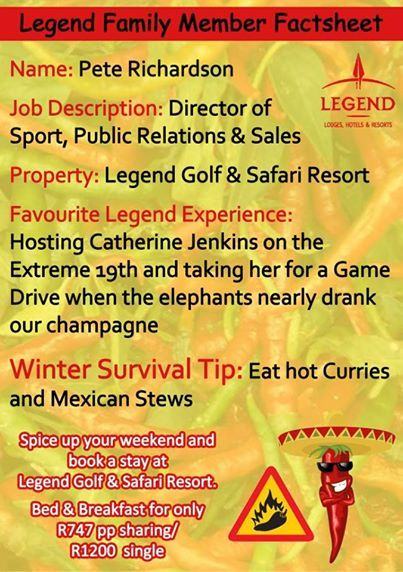 Meet one of our Directors, Pete. He is sharing the last Winter Tip with you. We hope our tips helped you through the winter! #WinterTips #legendcares  http://www.legendgolfsafari.com/legend-hospitality-school
