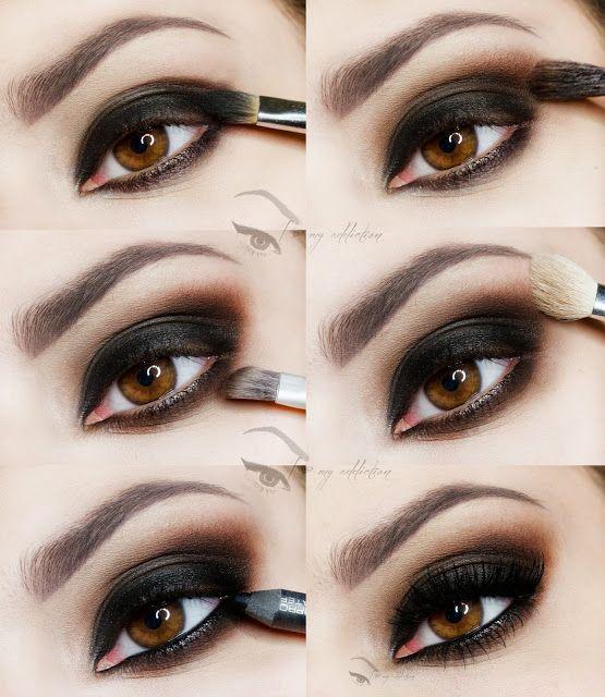 dramatic smokey eye tutorial #dailyfashforfashions