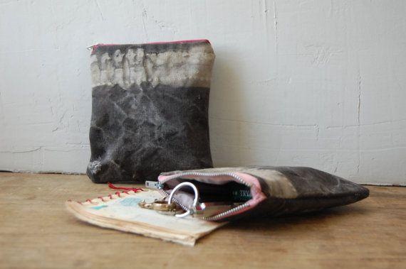 DRIFTER hand-dyed zip pouch by enhabiten on Etsy