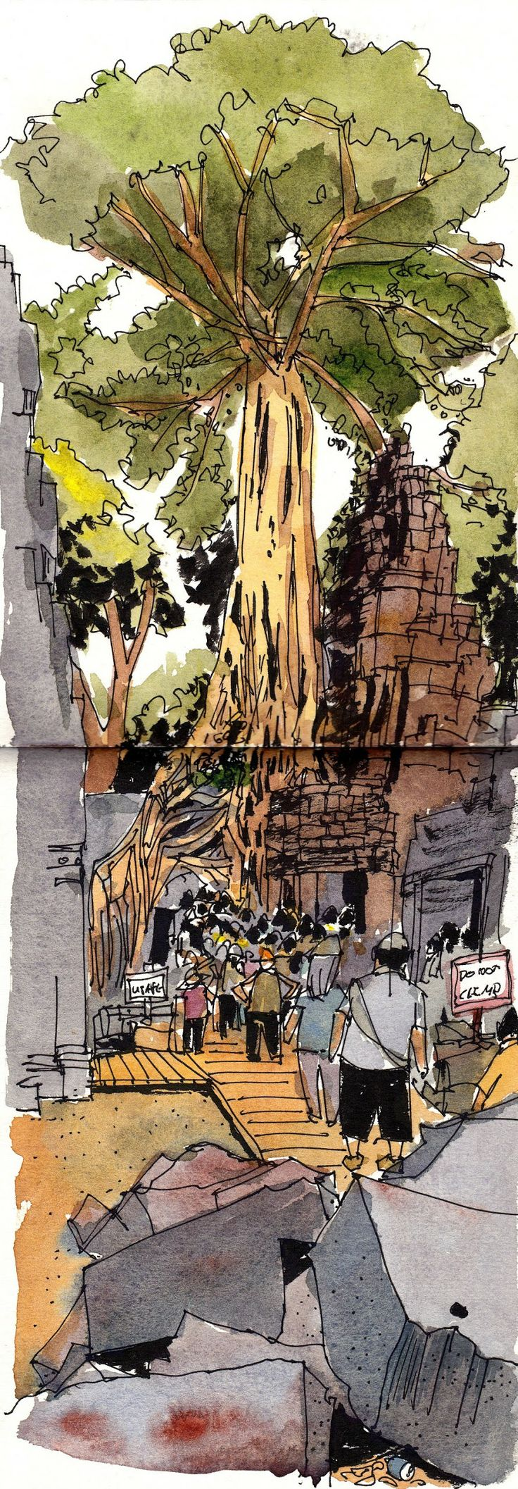 All the sketches from my Cambodia Sketching Trip 2014