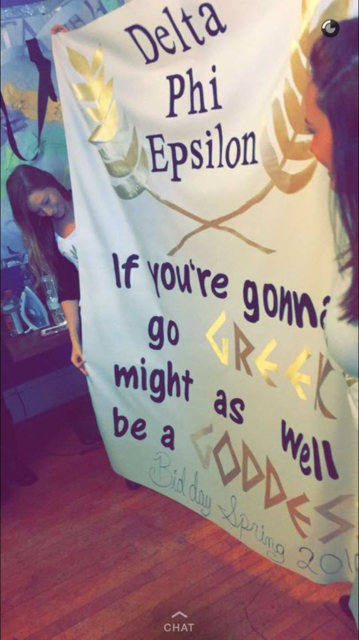 Greek Goddess, Bid Day Theme #DeltaPhiEpsilon