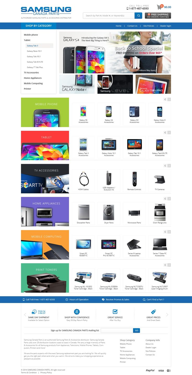 a modern E-Commerce Layout for Online Electronics Parts Store
