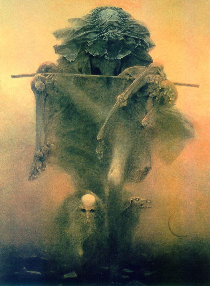 Zdzisaw Beksiski Terrifying Visions Of Hell By Murdered Polish Painter  Lazer Horse