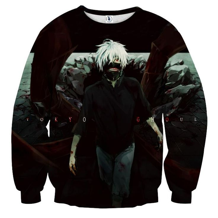 Tokyo Ghoul Anime Ken Kaneki Cool Vibrant Dope Black Sweatshirt — Konoha Stuff #TokyoGhoul #Anime #KenKaneki #Cool #Sweatshirt #Konoha
