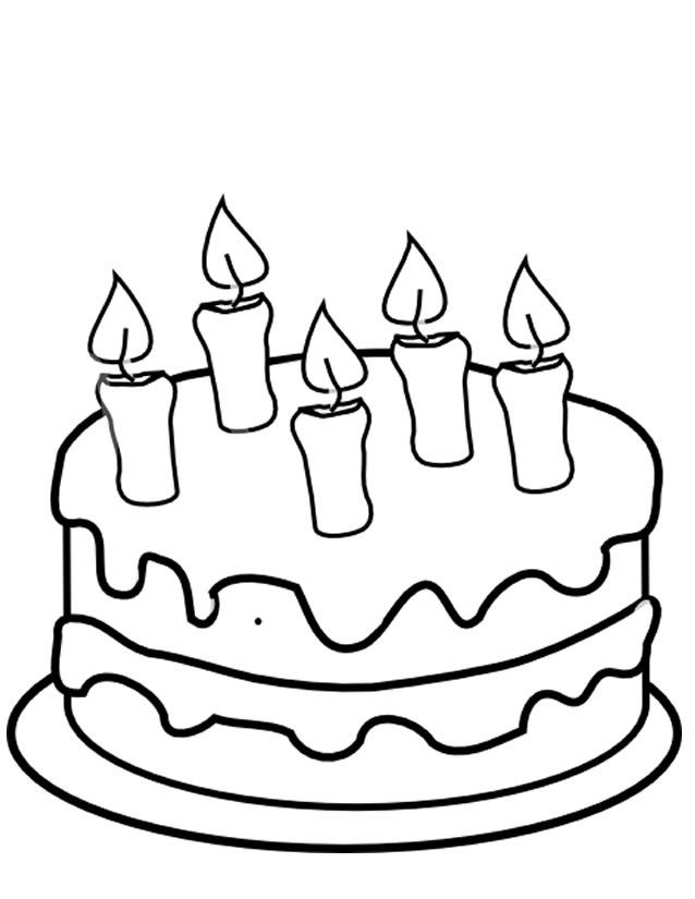 Dessin Gateau D Anniversaire Simple Awesome Coloriage Gateau A