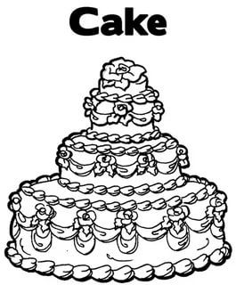 stunning blank birthday cake coloring page gallery - printable ... - Blank Birthday Cake Coloring Page