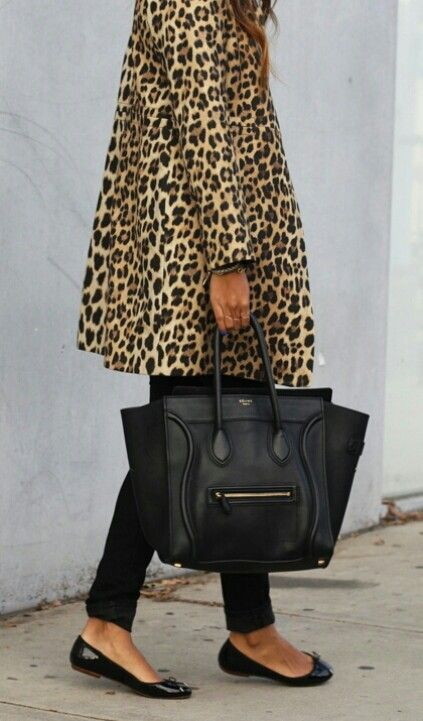 leopard and black celine