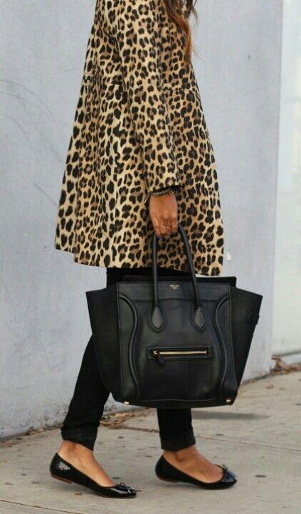 leopard and black celine