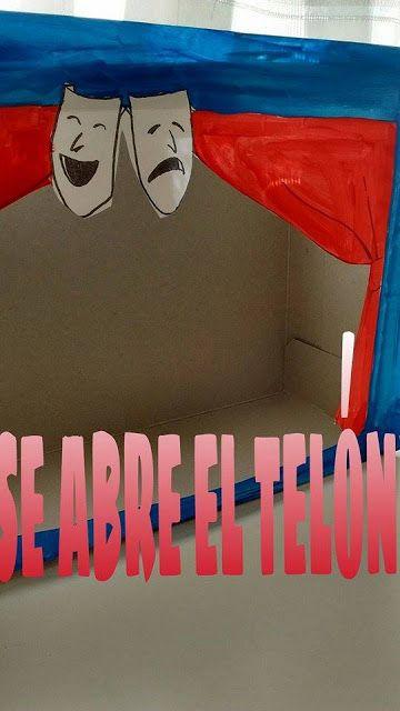 unratitopami cocinando fiestas: teatro con caja de cartón