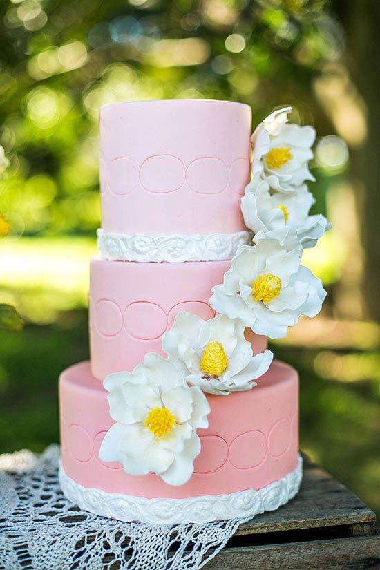 Colour Of Love Summer Wedding cake