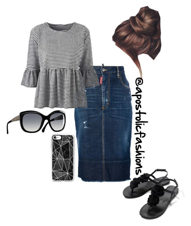 """Apostolic Fashions #1745"" by apostolicfashions on Polyvore featuring Dsquared2, Chanel and Casetify"