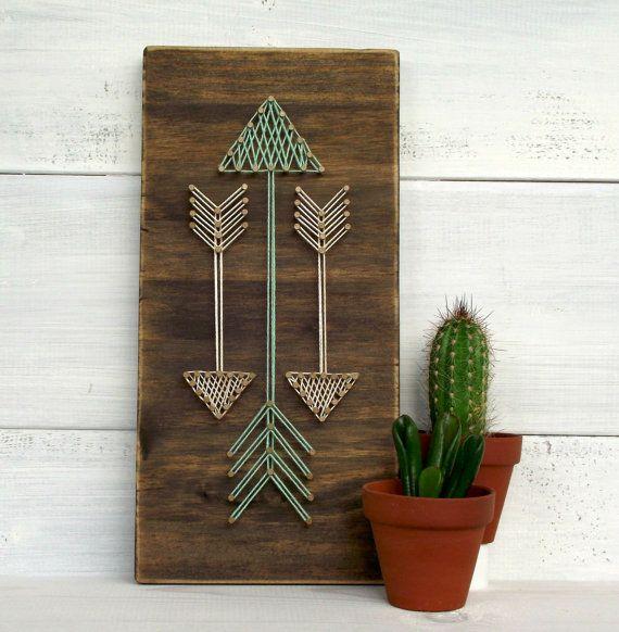 Las flechas mini cadena arte signo, signo de flecha, flechas, cartel de madera