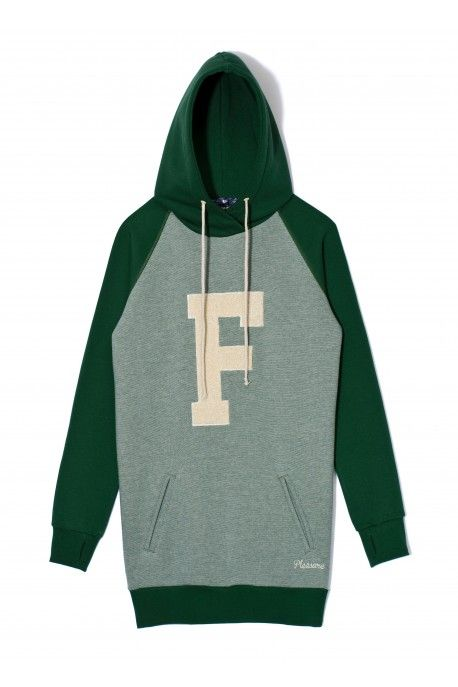 Bluza/sweatshirt ACADEMIC green vanilla stripe
