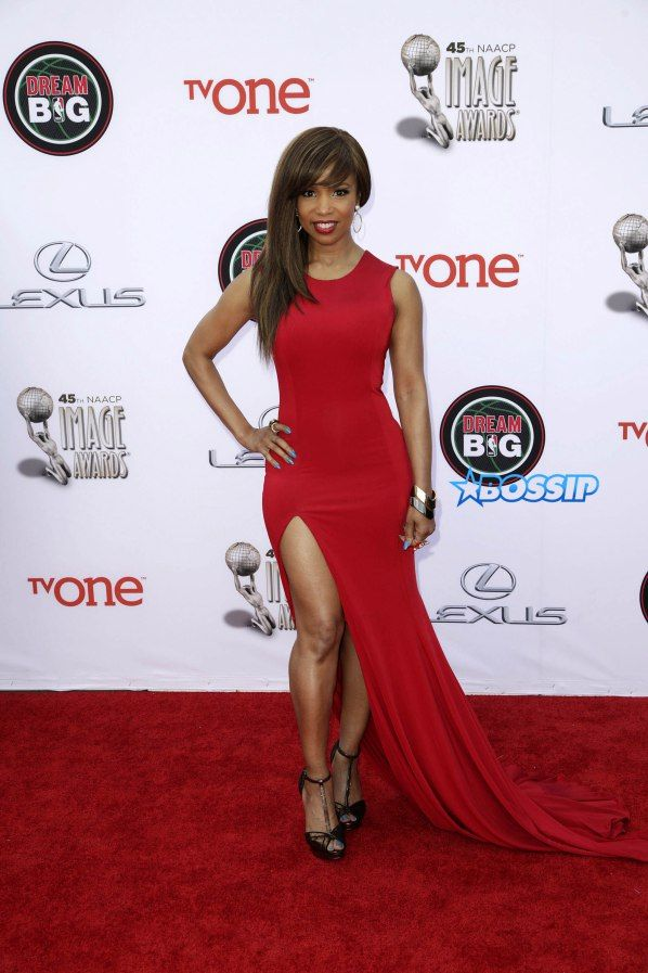 Celebrities attend 45th NAACP Image Awards at Pasadena Civic Auditorium. Featuring: Elise Neal Where: Los Angeles, California, United States When: 22 Feb 2014 Credit: Brian To/WENN.com