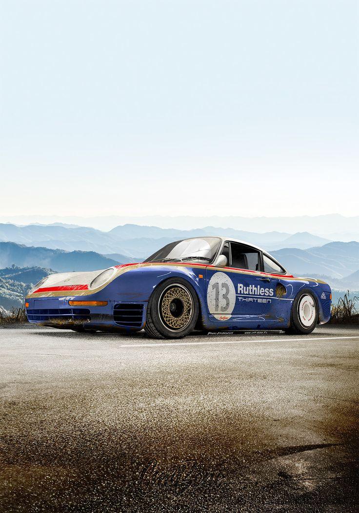 """Popatrz na mój projekt w @Behance: """"A poster with photoshopped Porsche 959 concept"""" https://www.behance.net/gallery/60605753/A-poster-with-photoshopped-Porsche-959-concept"""