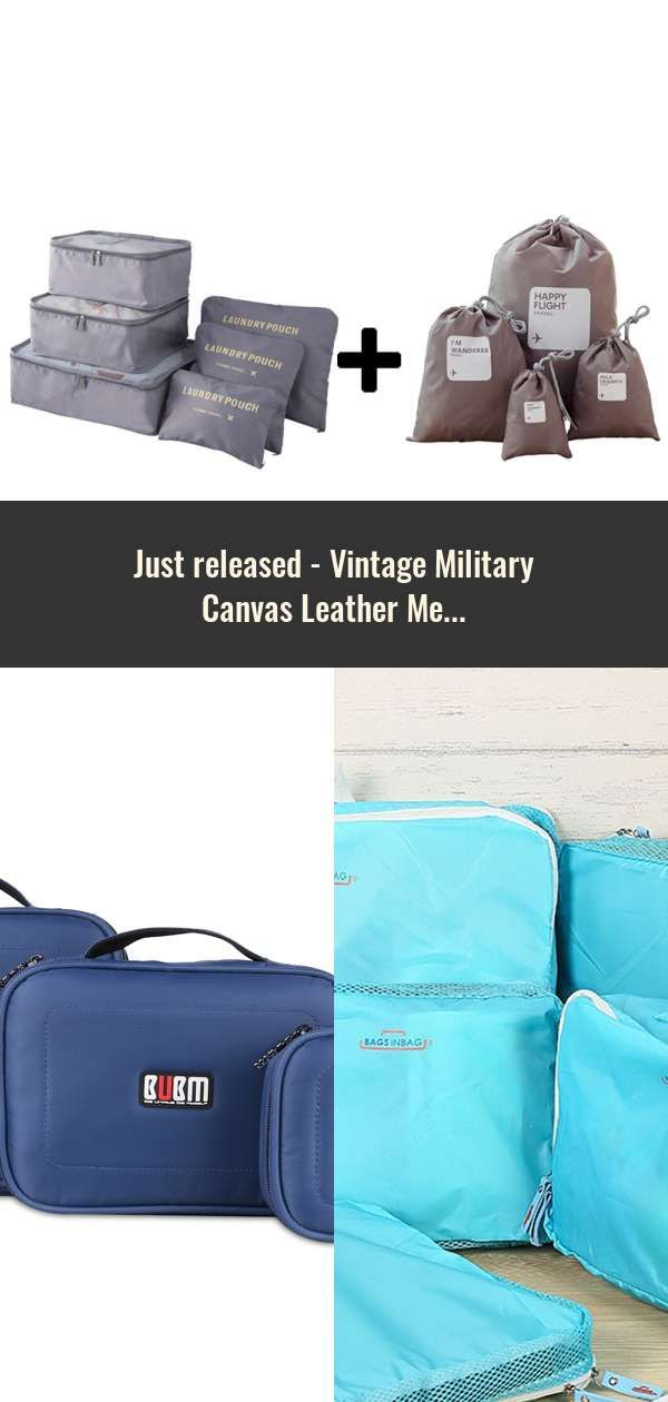 Vintage Military Canvas Leather Men Travel Bags Carry On Luggage Bags Men  Duffel Bags Travel Tote 546dda2a5576c