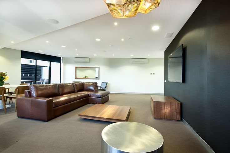 Bank Apartments' theater room. The Bank Apartments is located in Southbank, just minutes away from Crown Entertainment Complex, South Melbourne Market and the CBD.