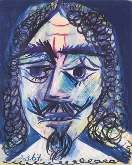 Pablo Picasso, Tête d'homme, Mousquetaire