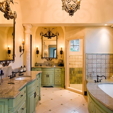 Bathroom Green Cabinets Design, Pictures, Remodel, Decor and Ideas