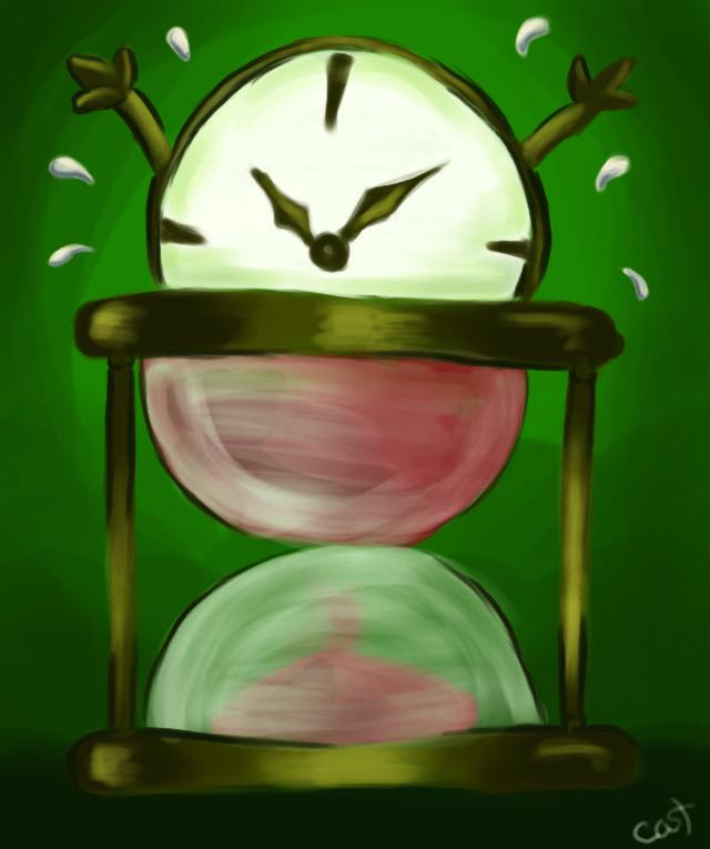 Caricatura editorial sobre el tiempo.