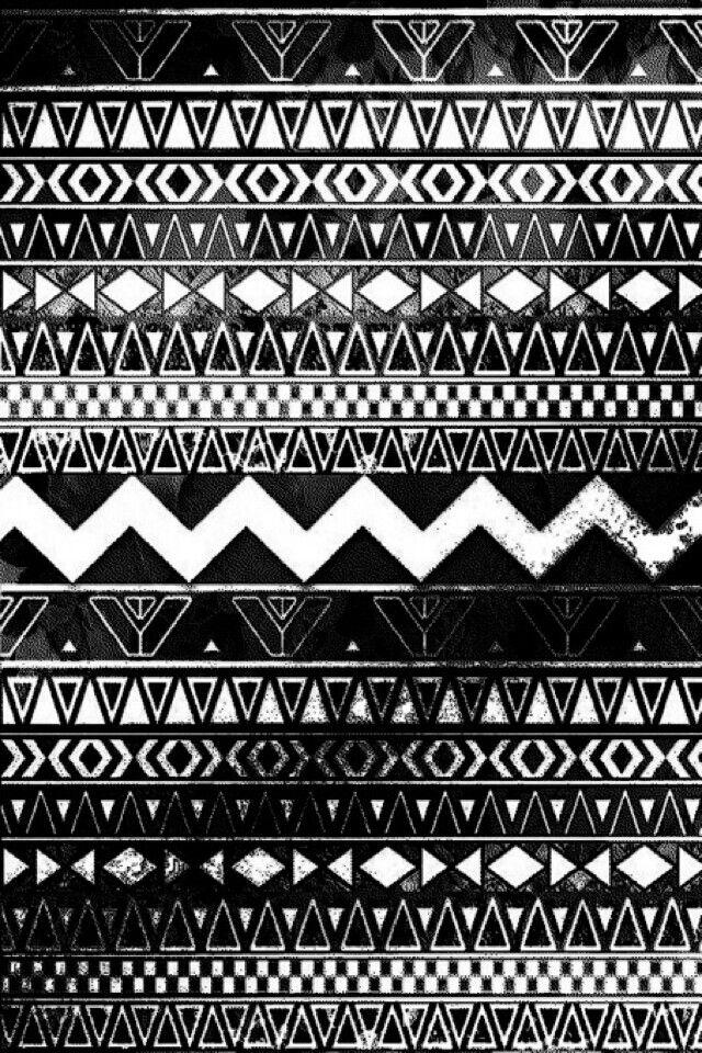 Black and white aztec