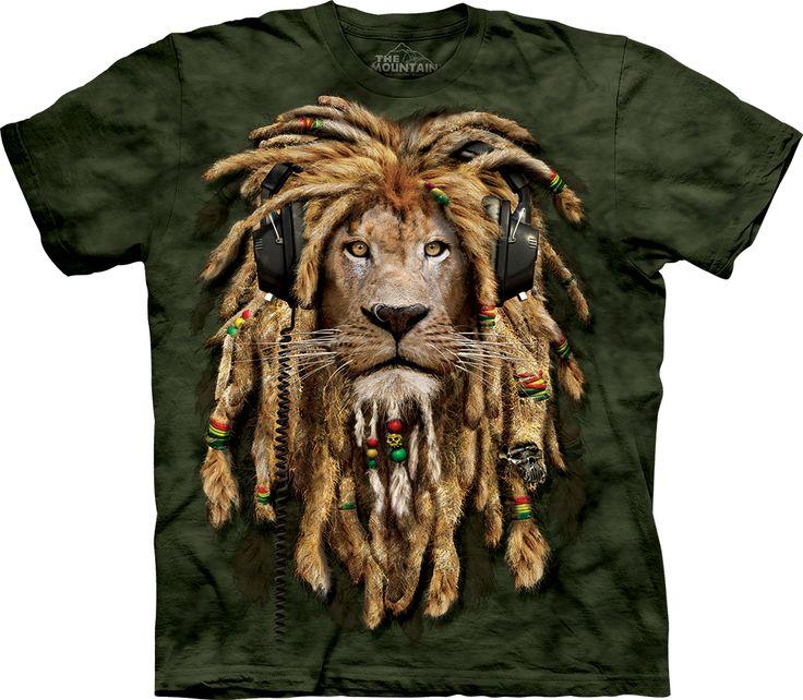 DJ Jahman Rasta Lion Adult T-Shirt