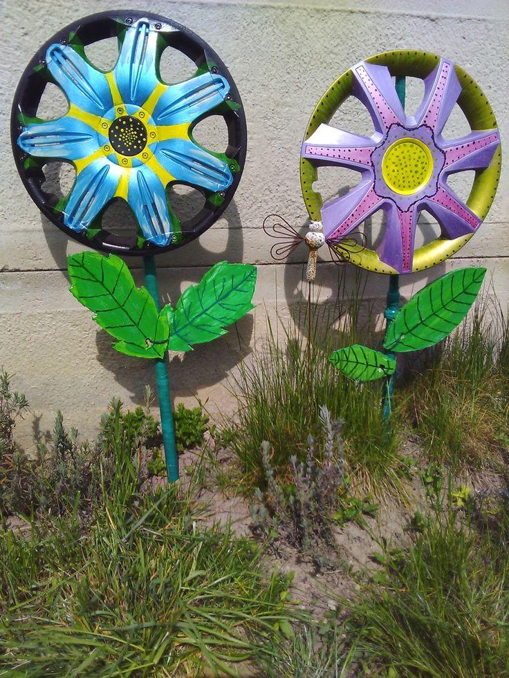 Garden Art From Junk Upcycling Bottle Caps