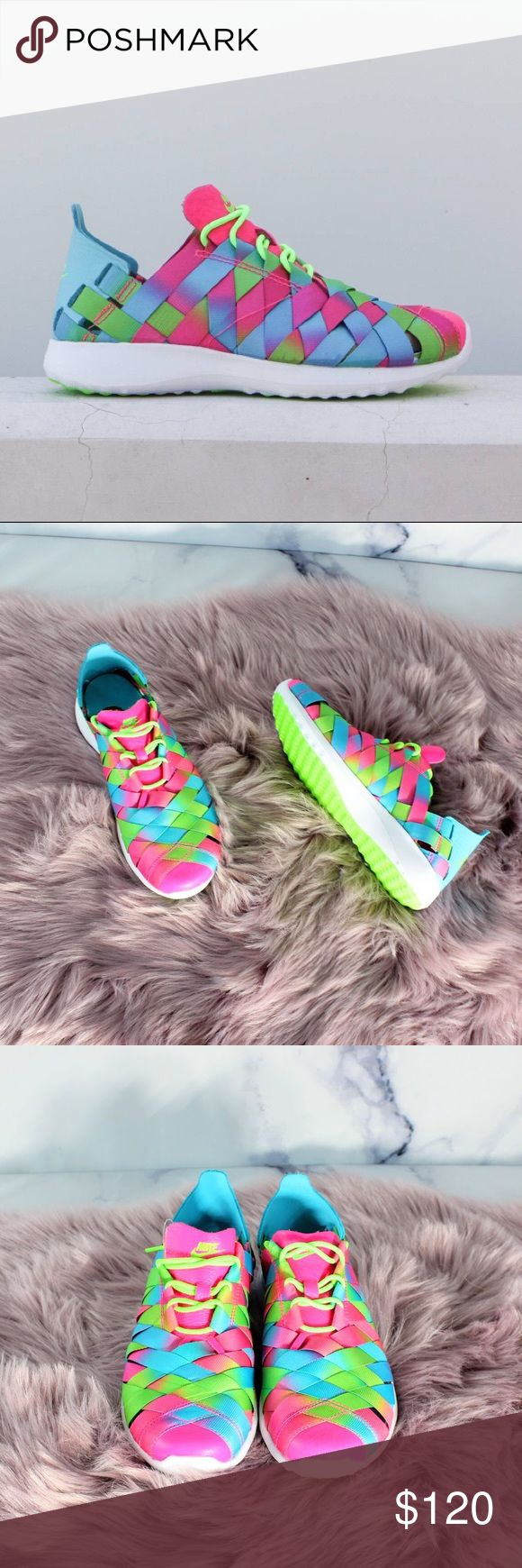 Nike Juvenate Woven Premium Gamma Pink Green 7.5 7.5 Women's. •CONDITION: new without box.  •FLAWS: No pilling, stains, or rips. •If you like it, feel free to make me a reasonable offer -OR- bundle your likes for me and I'll send you an offer with an exclusive discount! Nike Shoes Sneakers