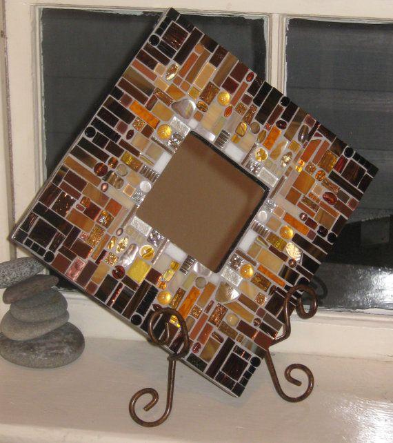 Chocolate Mosaic Mirror by anniekatsdesigns on Etsy