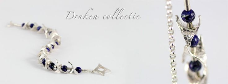 "Draken sieraden  By laleipsigjewels.com.  ""Silver Art Jewelry Grounded in Nature"""