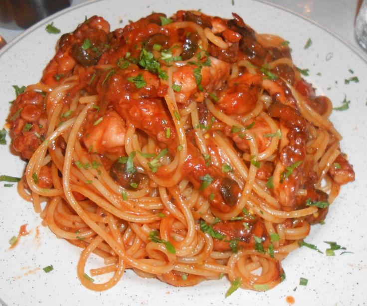 Traditional Maltese Spaghetti with Octopus