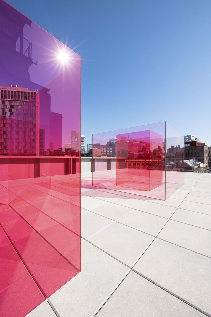 """timothyschenck: """"Larry Bell's """"Pacific Red II"""" at the Whitney Biennial. """""""