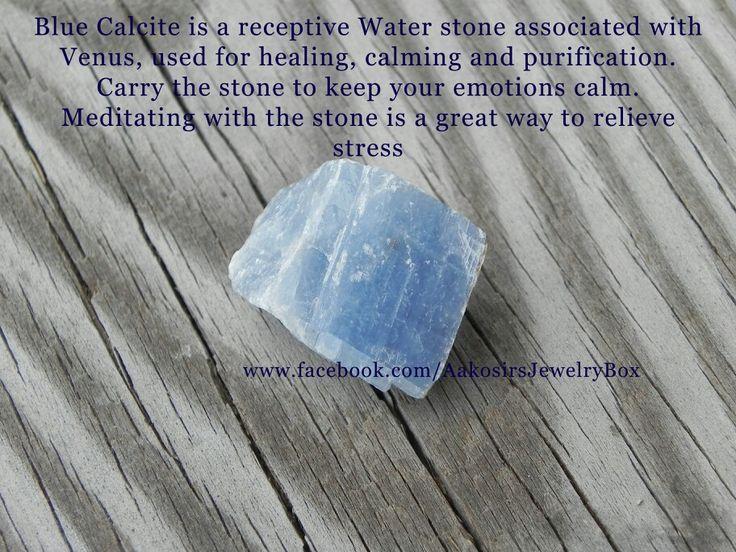 Blue Calcite - www.facebook.com/AakosirsJewelryBox