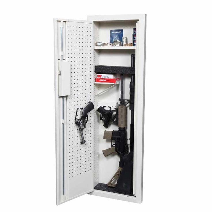 V-Line - Closet Vault II-In Wall Firearms and Valuables Quick Access Safe - 51653-S IVY