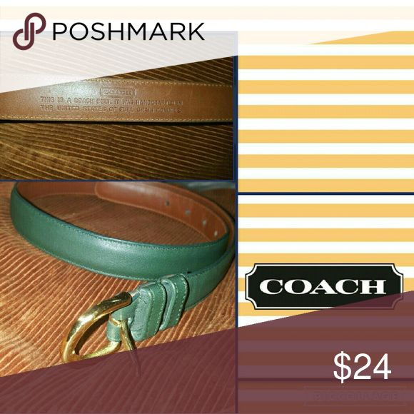 Coach learher belt XS- S Belt from my closet without hang tag but with correct markings and guaranteed authentic. This is a Max of 31 inches. Offers welcome Coach Accessories Belts