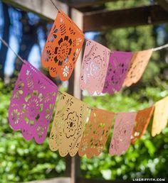 DIY Papel Picado Banner for Cinco de Mayo :: Lia Griffith