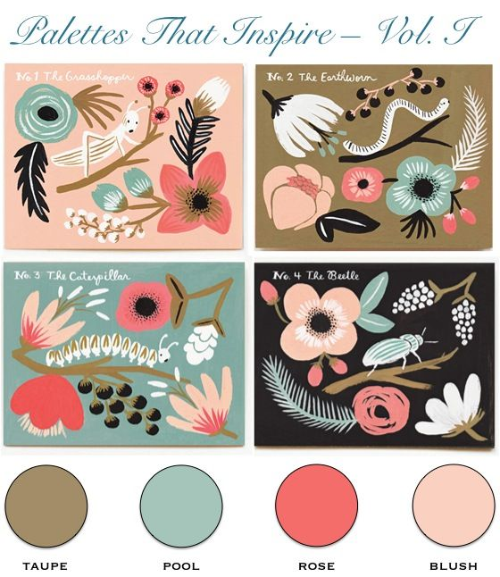 Palettes that Inspire – Rifle Paper Spring Notecards | Merci New York Blog