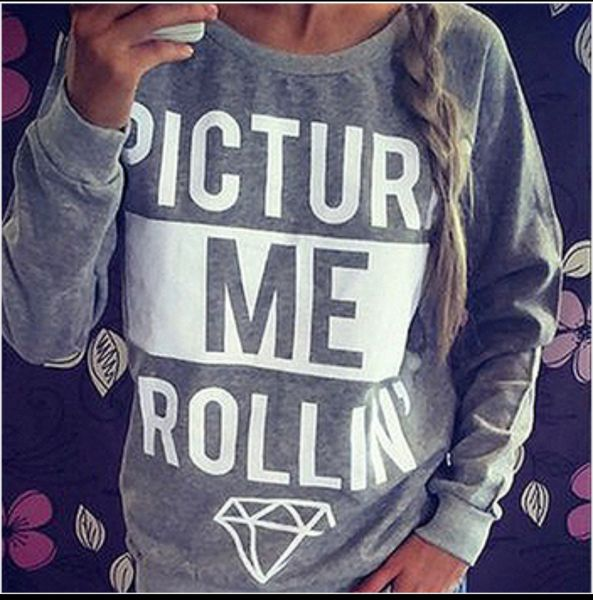 Picture me rollin Sweatshirt (Grey) END OF THE YEAR SALE IN THE SHOP! IF YOU'RE CUTE, OUR STORE IS FOR YOU! www.CuteAvenue.com  #cuteavenue #harrypotter #korea #japan  #leggings #fashion #Disney #Japan #anime #tights #Kawaii #harajuku #buy #cute #instasale #sale #style #colorful #adventuretime #Pokemon #pikachu #nye #adidas #cheap