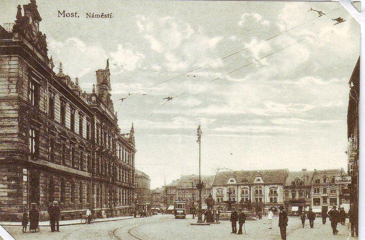 Starý Most 1.nám. První tramvaj s jednokolejkou vyjela prvně 7.srpna 1901.