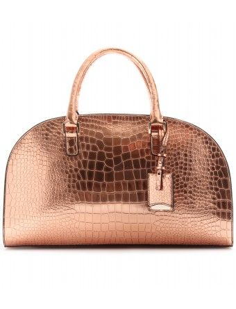 Jil Sander novarra metallic leather handbag