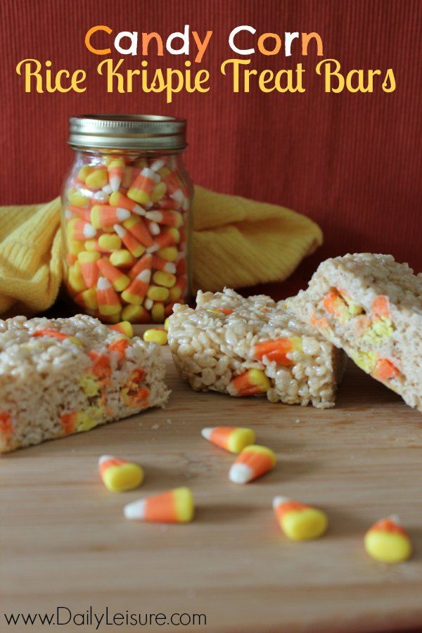 Candy Corn Rice Krispie Treat Bars Recipe Creative