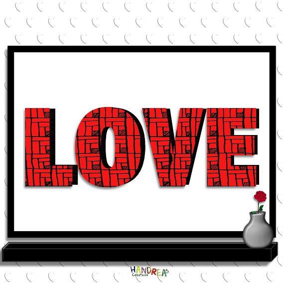 Love Sign Instant Download Printable love Wall Art #Love #Valentine #ValentineGift #LoveSign