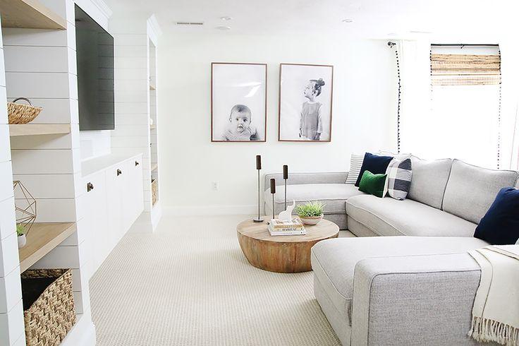 U-Shaped Sectional love family room.
