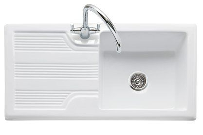Colorado 100 White Ceramic Inset Sink with Drainer