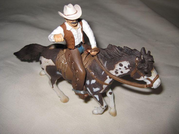 Schleich Cowboy And Horse Plastic Figurine Western Rodeo