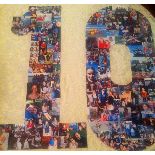 Cute idea for 10th birthday collage you could make this for any age