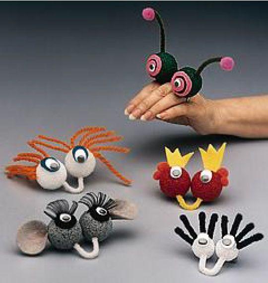 Hand Dolls  Styrofoam balls, pipe cleaners, eye balls, imagination