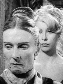 Young Frankenstein ( Cloris Leachman as Frau Blücher, Teri Garr as Inga )