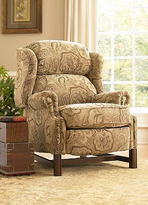 This Chippendale wing recliner is traditionally styled with rolled arms and block legs with a cherry finish. Self-welting and nailhead trim adorn the ... & 7 best Furniture images on Pinterest | Recliners Recliner chairs ... islam-shia.org