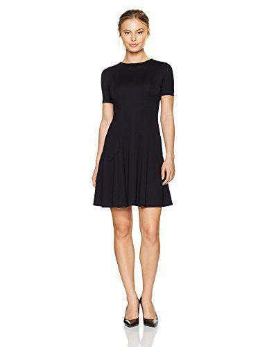 Ellen Tracy Women's Petite Size Seamed Knit Dress